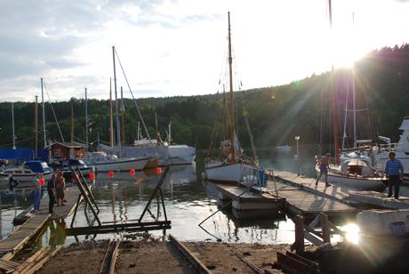 Kveldsstemning fra Bunnefjorden Slipp 5 Juni 2007